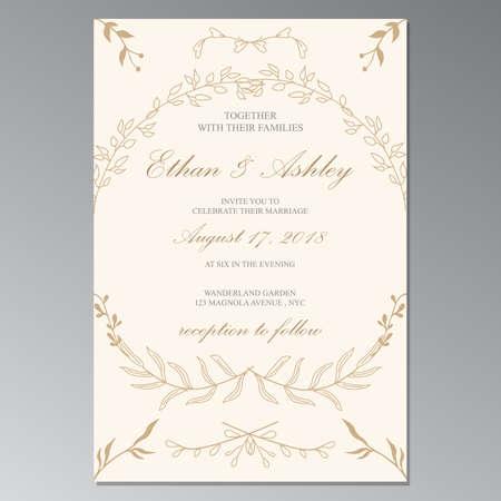 flower weding invitation frame cover