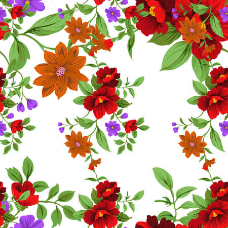 Small Floral Seamless Pattern with Cute Flowers . Feminine Texture in Rustic, Calico. Vector Spring and summer