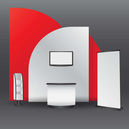 Simple Wall Booth Mockup. exhibition stand for event 3D rendering
