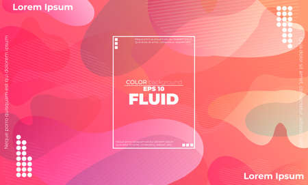 Abstract fluid color pattern of neon color liquid gradient background with modern geometric dynamic motion style Suitable For Wallpaper, Banner, Background, Card, Book Illustration, landing page, Vektorové ilustrace