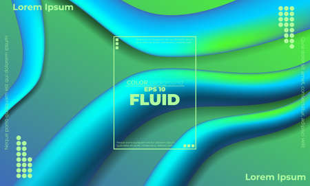 Abstract fluid color pattern of neon color liquid gradient background with modern geometric dynamic motion style Suitable For Wallpaper, Banner, Background, Card, Book Illustration, landing page,
