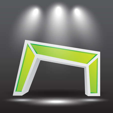 exhibition stand Gate entrance  vector with for mock up event display,
