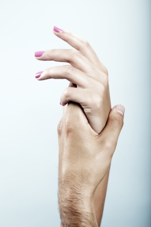 Hands forming a human feeling, symbolize love, spirituality and support  photo