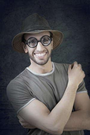 Funny portrait of an adventurer while striking a pose  photo