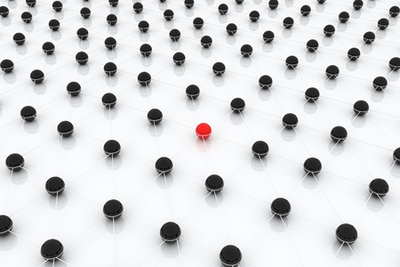 Standing out from the crowd is most important issue in business. Stock Photo - 19393181
