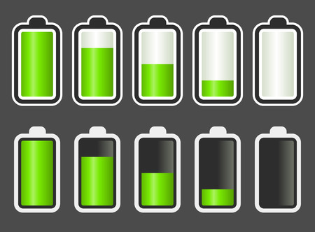 Battery Level Indicator Stock Vector - 7742934