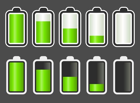 Wskaźnik poziomu baterii Ilustracje wektorowe