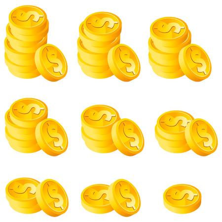 gold: Stack Gold coins Illustration