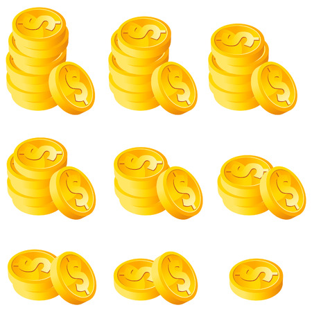 Stack gouden munten Stock Illustratie