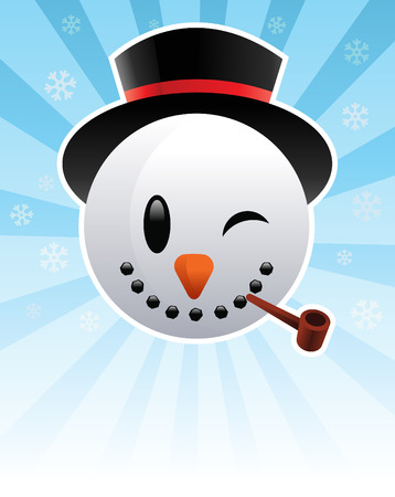 holiday: Happy SnowMan Illustration
