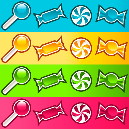 Set of sweet colorful candy Stock Vector - 7977354