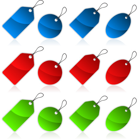 Shiny Colorful Price tags Vector
