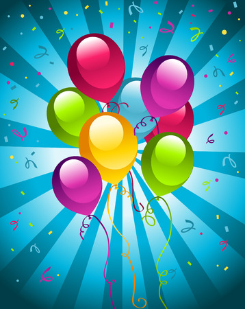 Ilustration of coloful party balloons. Illustration