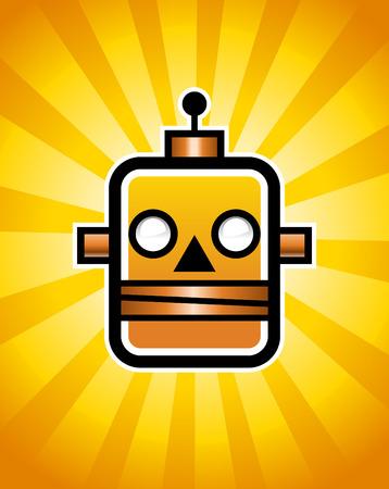 electronic background: Retro Robot