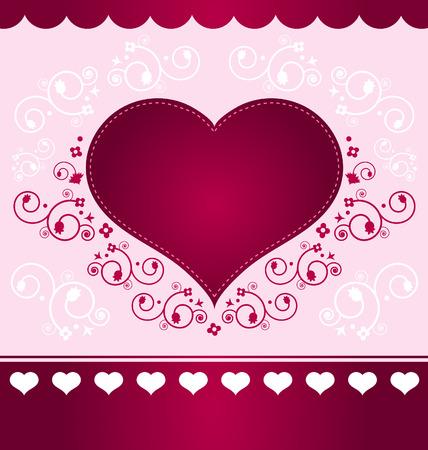Heart Design on light pink background