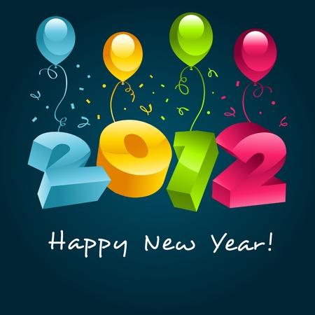 2012 Happy New Year Stock Vector - 10856999