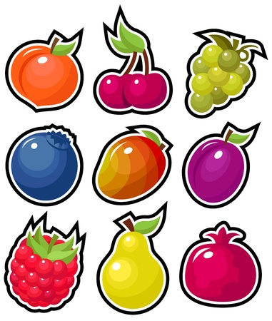 맛있는 과일 일러스트