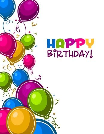 auguri di buon compleanno: Felice compleanno palloncini