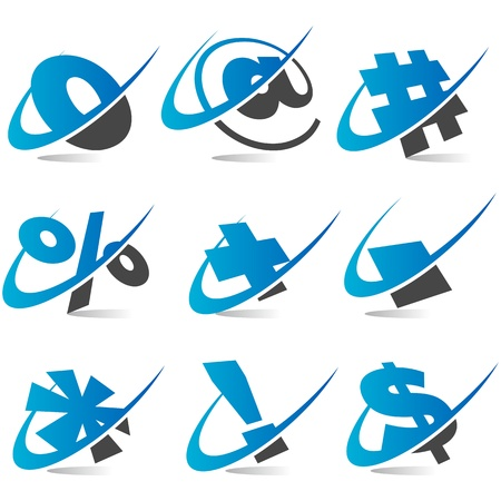 email icon: Swoosh Symbols Set5