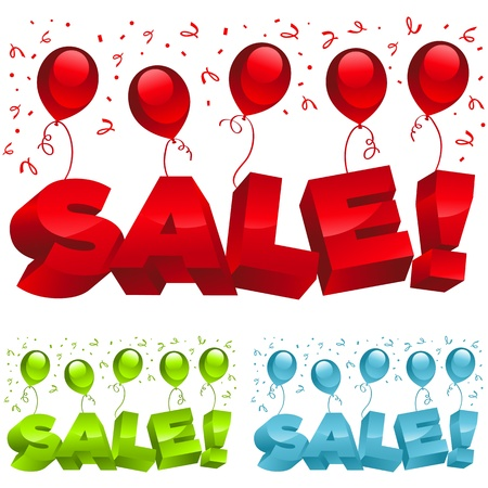 Sale Balloons Vector