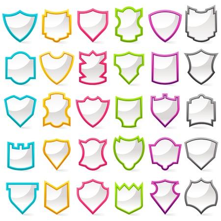 shield emblem: Shield Collection Colorful