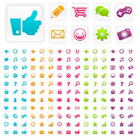 web shop: Social Media Icons Illustration