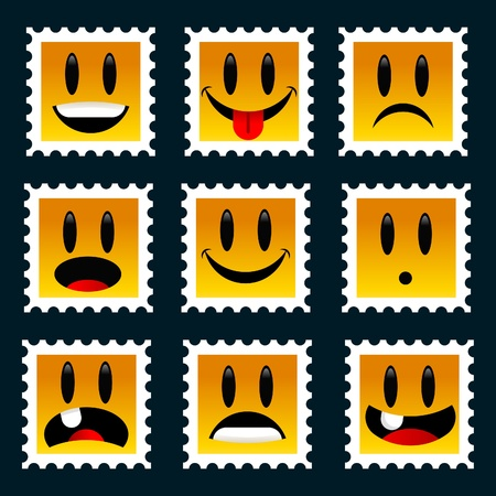 Set of Smiley Stamps