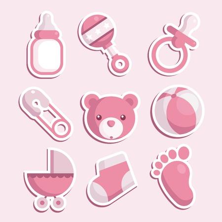 bib: Baby Girl Icons