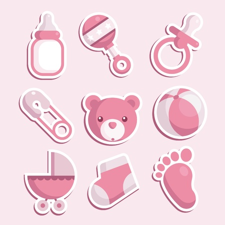 babero: Iconos de la niña