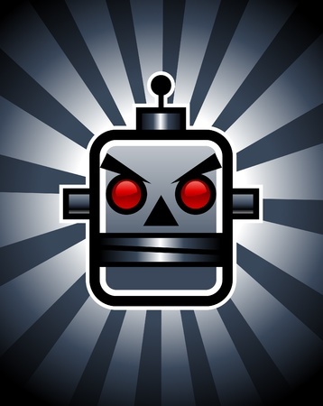 Evil Retro Robot Stock Vector - 11814248