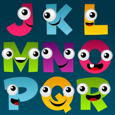 Cartoon Alphabet Set 2 Stok Fotoğraf - 11814228