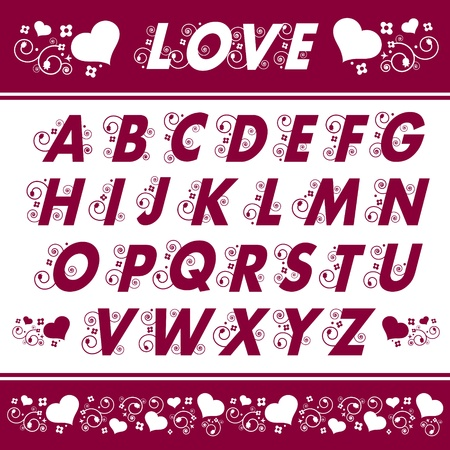 Alphabet Floral Designs