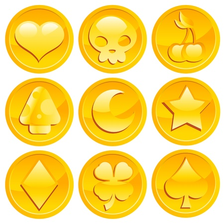Game Gold Coins Vector