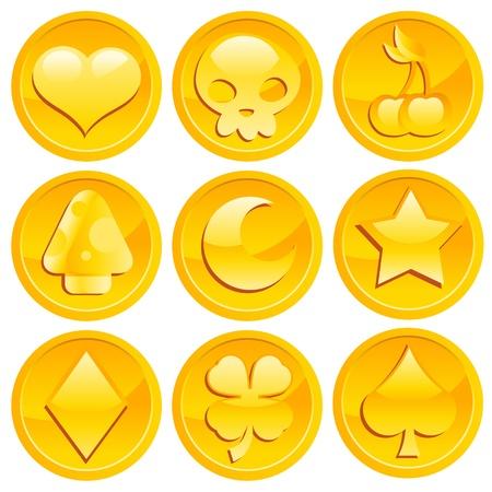 Game Gouden Munten Stock Illustratie