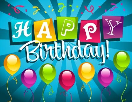 Feliz cumpleaños tarjetas de felicitación Foto de archivo - 11882022