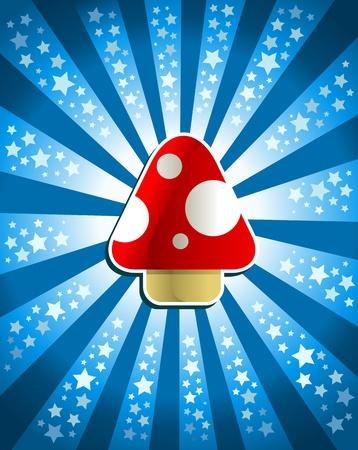 champignon magique: Champignon magique Rouge