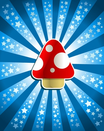 Red magic mushroom Vector