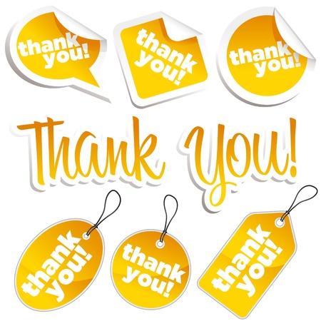 merci: Jeu de merci des autocollants et des �tiquettes