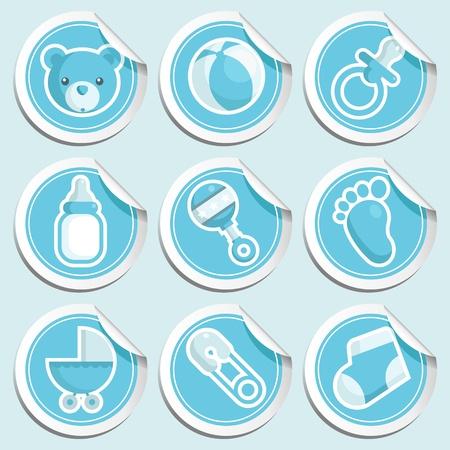 Blue Douche van de Baby Stickers