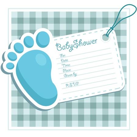 Blue Baby Uitnodiging van de Douche
