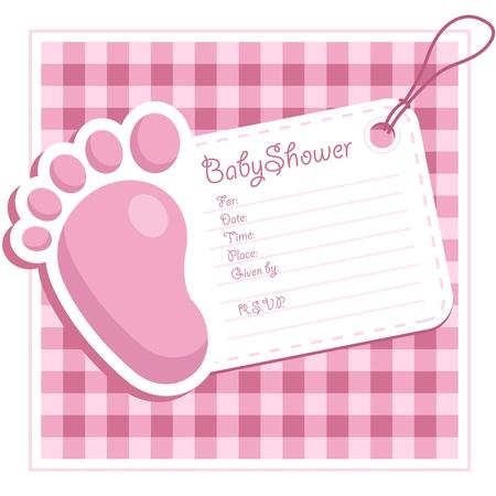 inbjudan: Rosa baby showerinbjudan