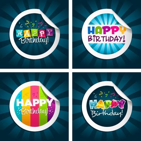 auguri di buon compleanno: Adesivi di buon compleanno