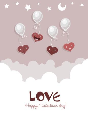 Valentines Greeting Card Vetores