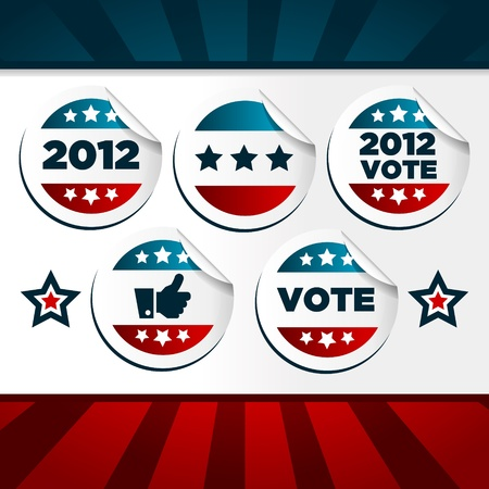 Patriotic Voting Stickers Vector