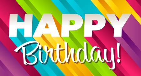 Colorful happy birthday greeting card  Stock Vector - 12467108