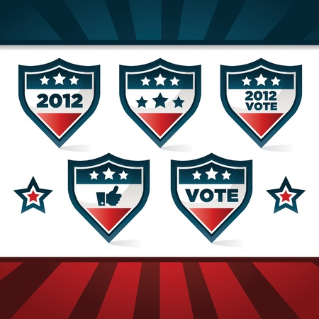 Set of patriotic voting shields  Vector