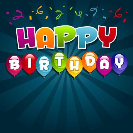 Vector Gelukkige Verjaardag Stock Illustratie