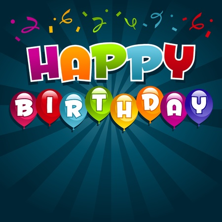 greeting card background: Vector happy birthday greeting card