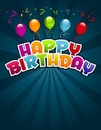 auguri di buon compleanno: Vector buon compleanno biglietto di auguri