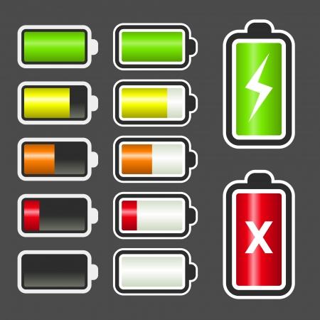 baterii: zestaw baterii ikon płynowskazowych